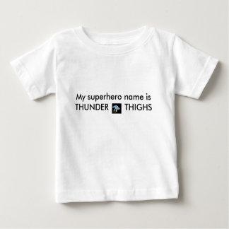 Camiseta De Bebé truene, mi super héroe que el nombre es MUSLOS