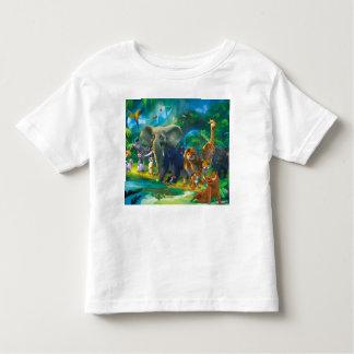 Camiseta De Bebé Tshirt niños animales de la selva