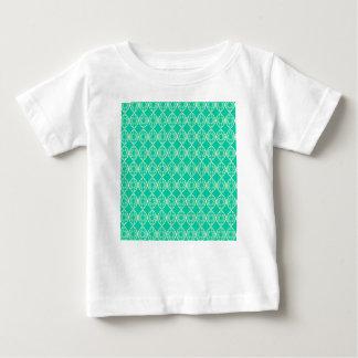Camiseta De Bebé Turquesa abstracta