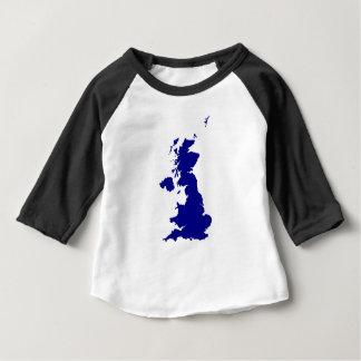 Camiseta De Bebé U.K. y silueta de Irlanda del Norte