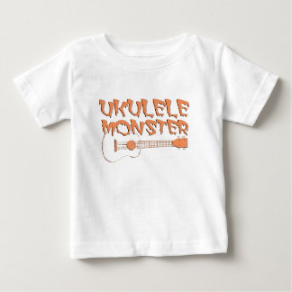 Camiseta De Bebé ukulele asustadizo