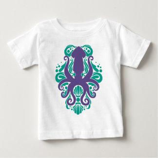 Camiseta De Bebé Ultravioleta del calamar del damasco en Arcadia