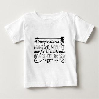 Camiseta De Bebé Un abogado comienza vida que da a $500 el valor de