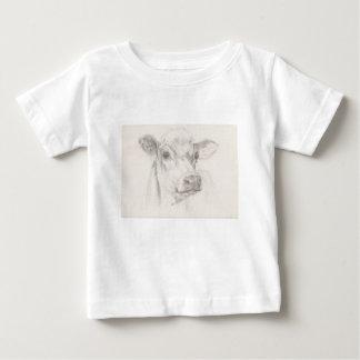 Camiseta De Bebé Un dibujo de una vaca joven