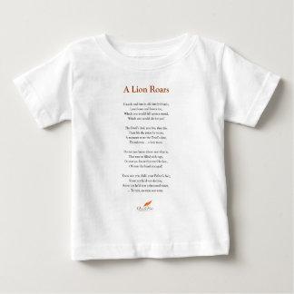 Camiseta De Bebé Un león ruge el poema