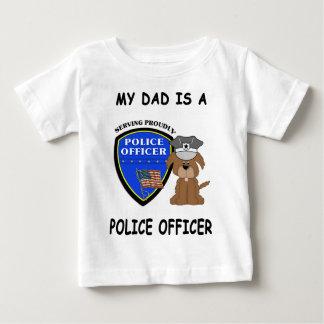 Camiseta De Bebé Un mi papá de la policía