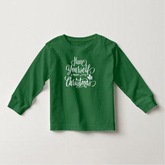 Camiseta De Bebé Una feliz pequeña manga larga del navidad el |