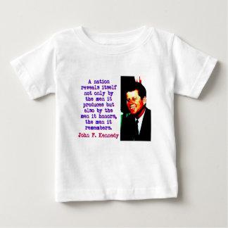Camiseta De Bebé Una nación se revela - John Kennedy