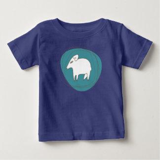 Camiseta De Bebé Una oveja en óvalos