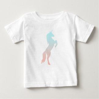 Camiseta De Bebé Unicornio en colores pastel