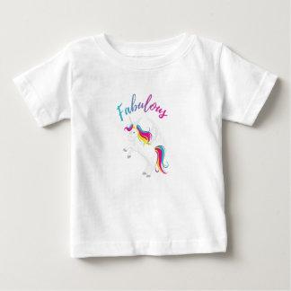 Camiseta De Bebé Unicornio fabuloso - diseño mágico del arco iris -