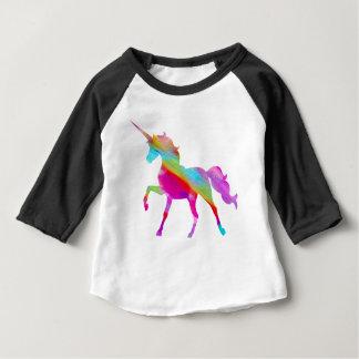 Camiseta De Bebé Unicornio prancing del arco iris brillante mágico