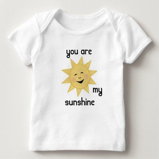 Camiseta De Bebé usted es mi sol 1