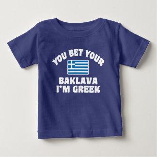 Camiseta De Bebé Usted le apuesta Baklava que soy griego