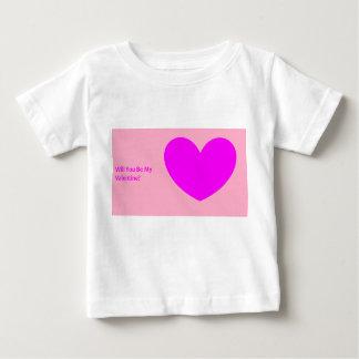 """Camiseta De Bebé """"Usted será mi tarjeta del día de San Valentín?"""""""