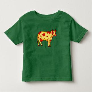 Camiseta De Bebé Vaca de Brown del vector