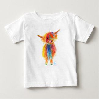 """Camiseta De Bebé Vaca escocesa """"ÁNGEL"""" de la montaña por Shirley"""