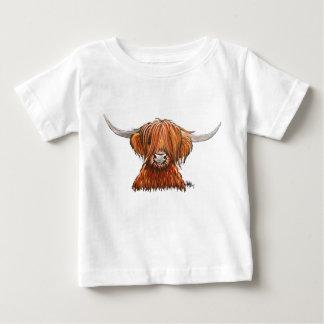 """Camiseta De Bebé Vaca melenuda escocesa """"HARLEY"""" de la montaña."""