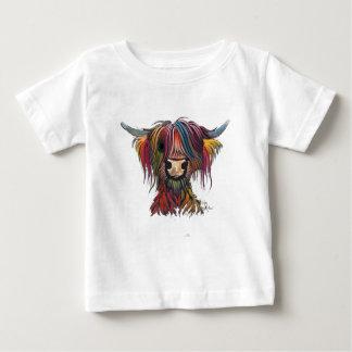 Camiseta De Bebé Vaca melenuda escocesa 'OLIVERIO 'de la montaña