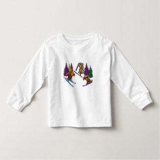 Camiseta De Bebé Vacaciones del esquí del perrito