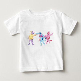 Camiseta De Bebé Vacas de la nieve
