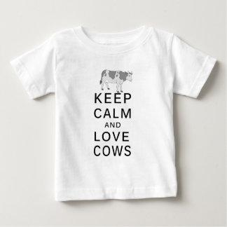Camiseta De Bebé vacas del amor