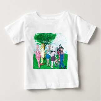 Camiseta De Bebé Vacas lecheras que llevan la ropa de calle