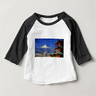 Camiseta De Bebé Van Gogh Mt-Fuji-Japón