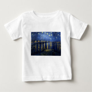 Camiseta De Bebé Van Gogh: Noche estrellada sobre el Rhone