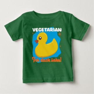 Camiseta De Bebé Vegetariano para el motivo del pato