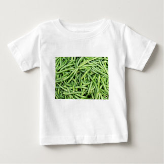 Camiseta De Bebé Veggie verde orgánico Vegitarian de las habas