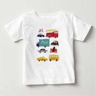 Camiseta De Bebé Vehículos