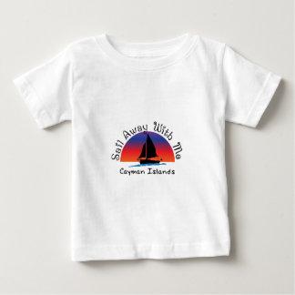 Camiseta De Bebé Vela lejos conmigo Islas Caimán.