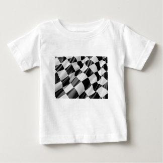 Camiseta De Bebé Velocidad blanco y negro del final de la bandera