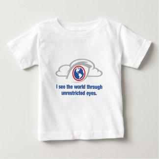 Camiseta De Bebé Veo el mundo a través de ojos sin restricción