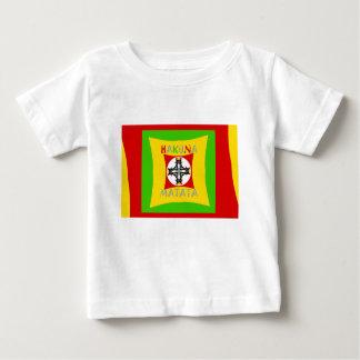Camiseta De Bebé Verde de oro rojo del color de Hakuna Matata Rasta