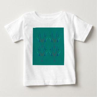 Camiseta De Bebé Verde del nordic de los elementos del diseño