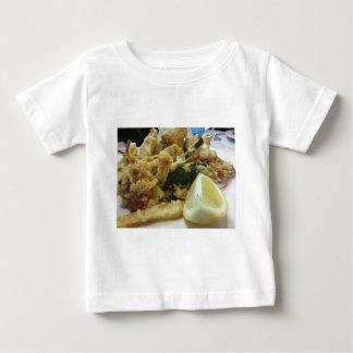 Camiseta De Bebé Verduras crujientes empanadas y fritas con el