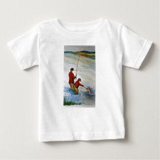 Camiseta De Bebé Viaje de pesca del padre y del hijo