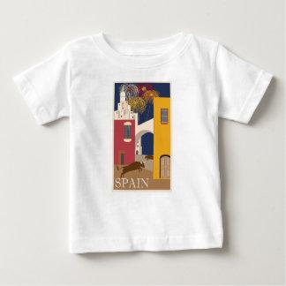 Camiseta De Bebé Viaje España del vintage