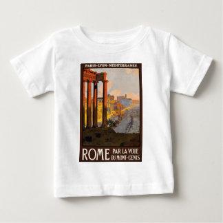 Camiseta De Bebé Viaje Roma Italia 1920 del vintage