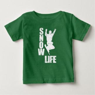 Camiseta De Bebé VIDA #3 de la NIEVE (blanca)