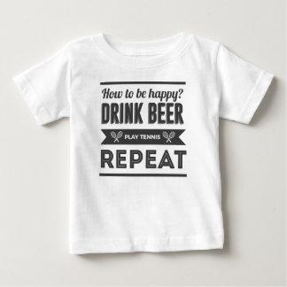 Camiseta De Bebé Vida feliz del tenis de los licores de la cerveza