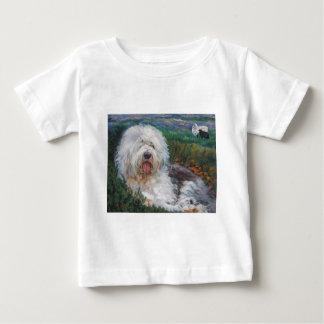 Camiseta De Bebé Vieja pintura inglesa hermosa del arte del perro