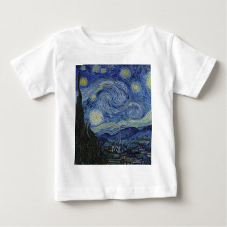 Camiseta De Bebé Vincent van Gogh - noche estrellada. Pintura del