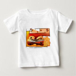 Camiseta De Bebé Vioselinna - belleza apoyada violín fuera trasera