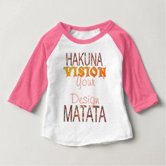 Camiseta De Bebé Vision su diseño Hakuna Matata