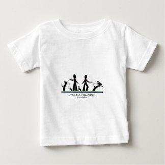 Camiseta De Bebé ¡Viva, ame, juegue, adopte!