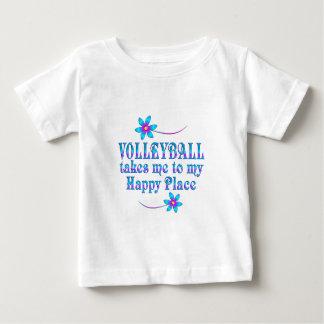 Camiseta De Bebé Voleibol mi lugar feliz