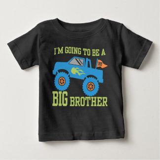 Camiseta De Bebé Voy a ser un monster truck de hermano mayor
